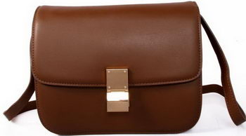 Celine Classic Box Small Flap Bag Smooth Leather C88007C Brown