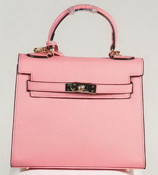 Hermes Kelly 25cm Tote Bag Togo Leather K2138 Pink