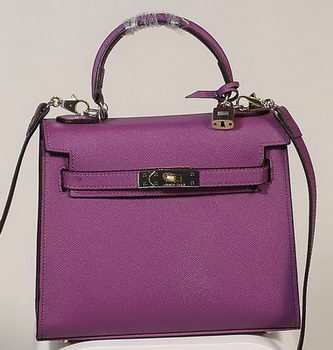 Hermes Kelly 25cm Tote Bag Togo Leather K2138 Purple
