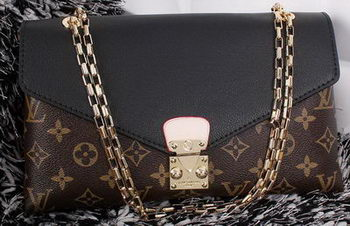 Louis Vuitton Monogram Canvas Pallas Chain Aurore Bag M41200 Black