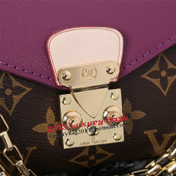 Louis Vuitton Monogram Canvas Pallas Chain Aurore Bag M41200 Purple