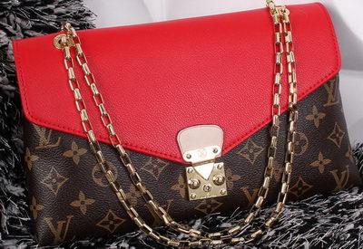 Louis Vuitton Monogram Canvas Pallas Chain Aurore Bag M41200 Red