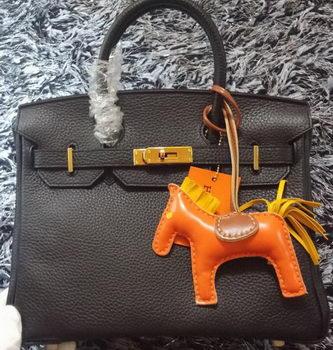 Hermes Birkin 30CM Tote Bags Litchi Leather H30LI Black
