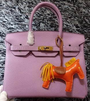 Hermes Birkin 30CM Tote Bags Litchi Leather H30LI Lavender