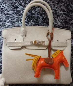Hermes Birkin 30CM Tote Bags Litchi Leather H30LI White