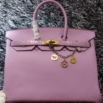 Hermes Birkin 35CM Tote Bag Litchi Leather HB35GL Lavender