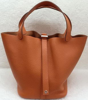 Hermes Picotin Lock 22cm Bags Litchi Leather HPL1048 Orange