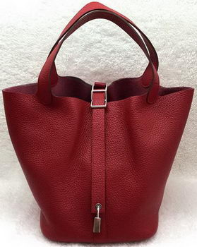 Hermes Picotin Lock 22cm Bags Litchi Leather HPL1048 Red