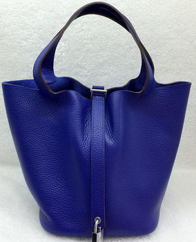 Hermes Picotin Lock 22cm Bags Litchi Leather HPL1048 Royal