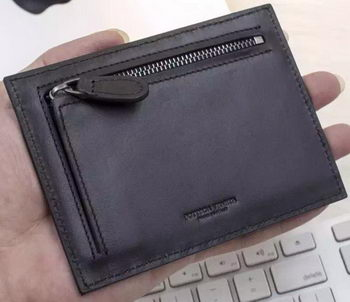 Bottega Veneta Intrecciato VN Card Case BV2079 Black