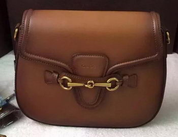 Gucci Lady Web Hand-Stained Leather Shoulder Bag 380573 Brown