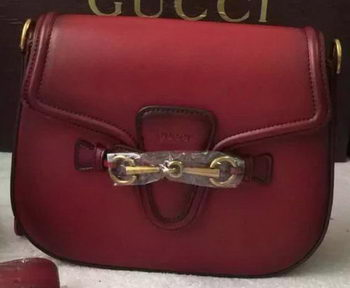 Gucci Lady Web Hand-Stained Leather Shoulder Bag 380573 Burgundy