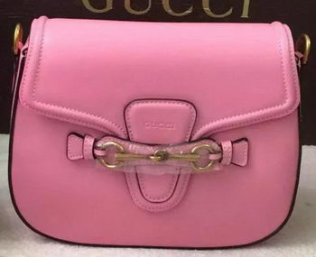Gucci Lady Web Hand-Stained Leather Shoulder Bag 380573 Pink