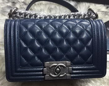 Boy Chanel Flap Shoulder Bags Cannage Pattern A67085 Royal