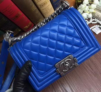 Boy Chanel Flap Shoulder Bags Sheepskin Leather A67085 Blue