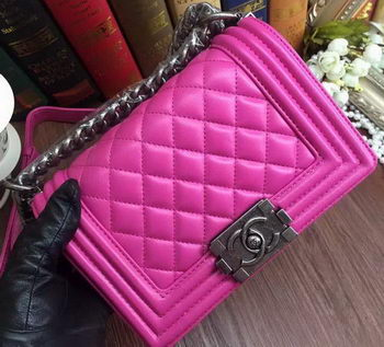 Boy Chanel Flap Shoulder Bags Sheepskin Leather A67085 Rose