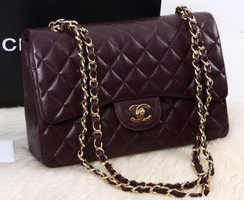 Chanel 2.55 Series Flap Bag Original Cannage Pattern Leather A1112 Burgundy
