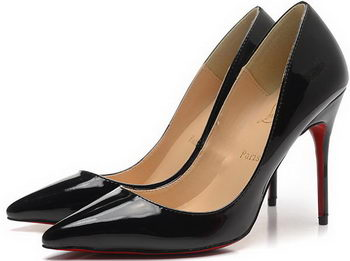 Christian Louboutin 100mm Pump Patent Leather CL1493 Black