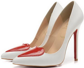 Christian Louboutin 100mm Pump Patent Leather CL1496 White