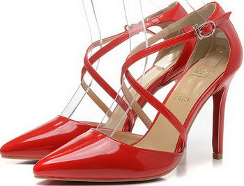 Christian Louboutin 100mm Sandals Patent Leather CL1506 Red