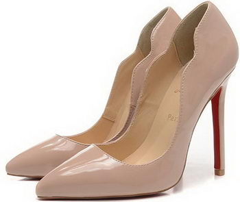 Christian Louboutin 120mm Pump Patent Leather CL1503 Apricot
