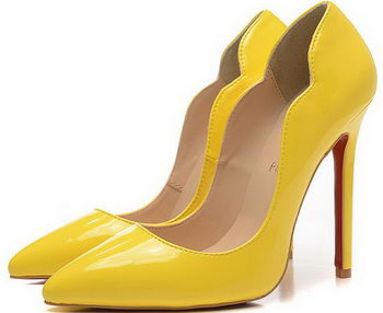 Christian Louboutin 120mm Pump Patent Leather CL1503 Yellow