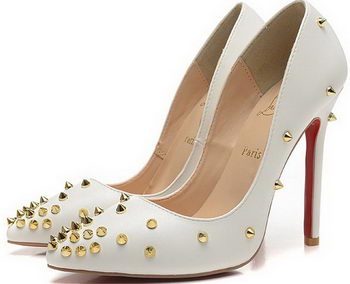 Christian Louboutin 120mm Pump Sheepskin Leather CL1491 White