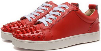 Christian Louboutin Casual Shoes Calfskin Leather CL896 Red