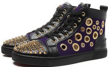 Christian Louboutin Casual Shoes Sheepskin Leather CL892 Purple