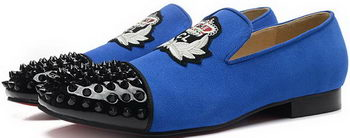 Christian Louboutin Casual Shoes Suede Leather CL898 Blue