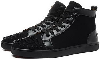 Christian Louboutin Casual Shoes Suede Leather CL903 Black