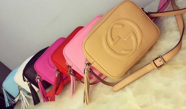 Gucci 308364 Soho Calfskin Leather Disco Bag