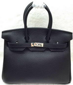 Hermes Birkin 25CM Tote Bag Original Leather H25T Black