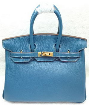 Hermes Birkin 25CM Tote Bag Original Leather H25T Blue