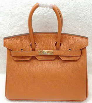 Hermes Birkin 25CM Tote Bag Original Leather H25T Orange