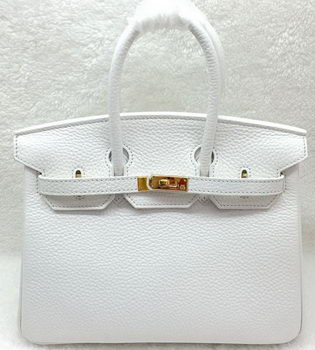 Hermes Birkin 25CM Tote Bag Original Leather H25T White