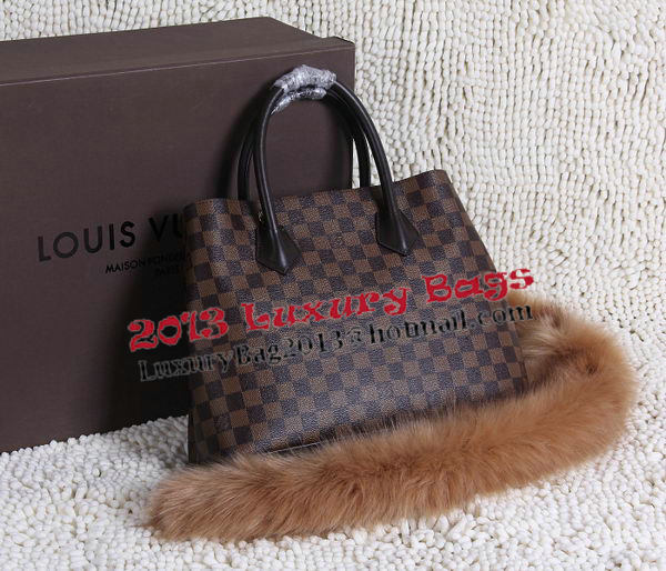 Louis Vuitton Damier Ebene Canvas KENSINGTON Bag N41435