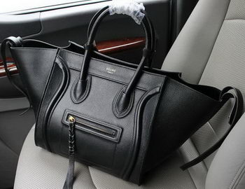 Celine Luggage Phantom Tote Bag Litchi Leather CT103 Black