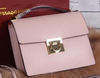 Ferragamo Calfskin Leather Medium Shoulder Bag SF0614 Pink