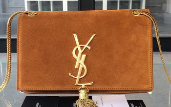 YSL Monogramme Cross-body Shoulder Bags Suede Leather 311218 Wheat
