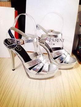 Yves Saint Laurent 130mm Pump Sandals YSL249LWR Silver