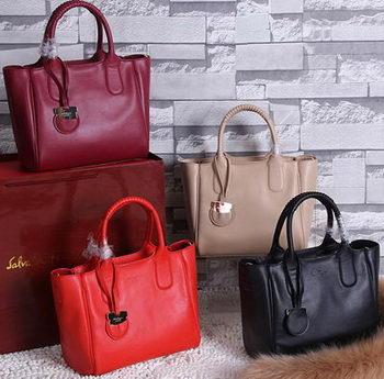 Ferragamo Medium Tote Bag Calfskin Leather FL3686
