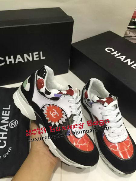 Chanel Casual Shoes Suede Leather CH1329 Black&Red