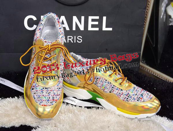Chanel Casual Shoes Weave CH1330 Gold