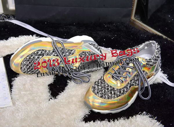 Chanel Casual Shoes Weave CH1331 Gold