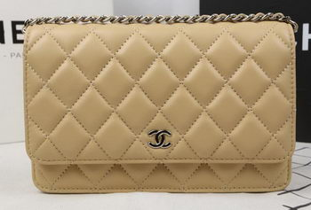 Chanel mini Flap Bag Original Sheepskin Leather A33814 Apricot