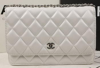 Chanel mini Flap Bag Original Sheepskin Leather A33814 OffWhite