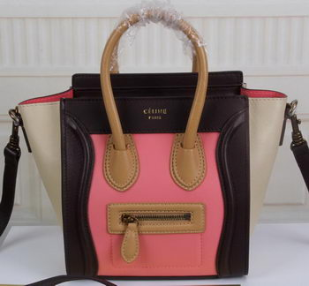 Celine Luggage Nano Tote Bag Original Leather CLY33081S Pink