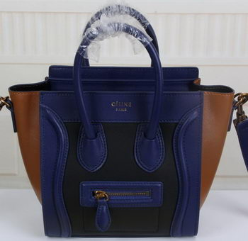 Celine Luggage Nano Tote Bag Original Leather CLY33081S Royal