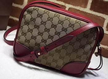 Gucci Bree Original GG Canvas mini Messenger Bag 387360 Burgundy